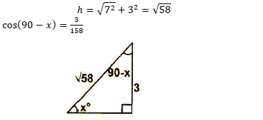 Given That Tan X Sup 0 Sup 3 7 Find Cos 90 X Sup 0 Sup Giving Your Answer To 4 Significant Figures