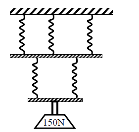 Sketch a block and tackle pulley with three movable pulleys