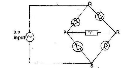 Fabulous The Diagram Below Shows A Rectifier Circuit For An Alternating Wiring Database Ilarigelartorg